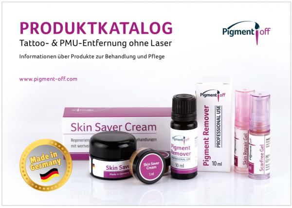 """Katalog der """"PigmentOff""""-Produkte"""