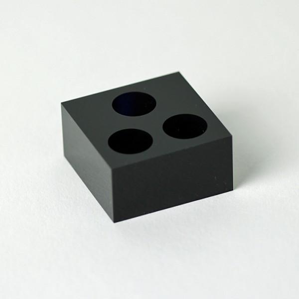 Farbtöpfchen-Ständer aus Acryl, schwarz