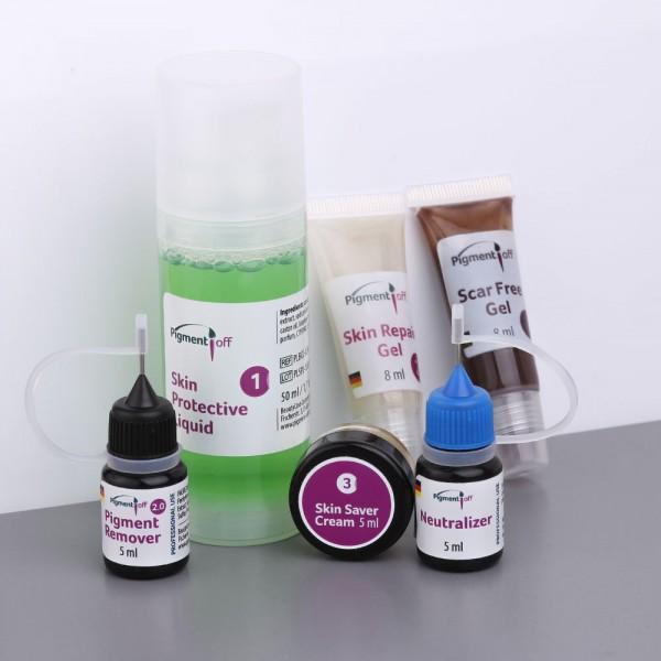 PigmentOff 2.0 Remover Set für Tattoo & PMU, 5 ml