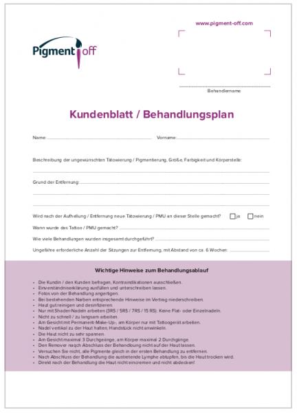 Kundenblatt / Kundenkartei - 50 St.